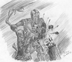 Dead Space - Isaac Battle by PrinceRoy1990