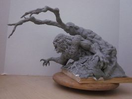 Wrightson Swamp Thing WIP by Blairsculpture