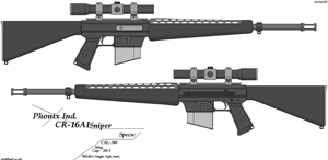 Phonix Ind. CR-16A1 Sniper by GriffinDogR34