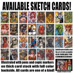 Available Sketch Cards Part 2 by ChrisMcJunkin