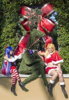Panty and Stocking and Reindeer by moonymonster
