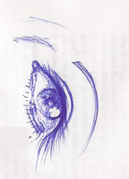 Eye (Pen Drawing) by CreationsByCrystal