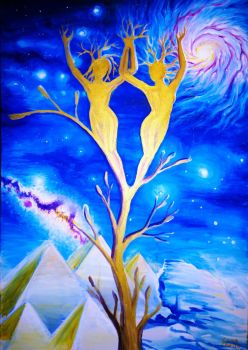Golden twin flames in the universe by CORinAZONe