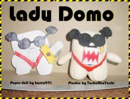 Lady Domo Paper Doll + Plushie by TashaAkaTachi