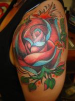 rose on shoulder by dannygarcia