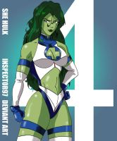 Fantastic Four: She Hulk by Inspector97