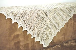 Victorian lace - hand knit lace shawl by NitkaAG