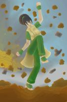 Avatar- Toph The Powerful Metal Bender by anime-halo