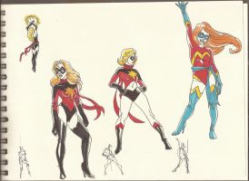 Ms. marvel Sketches_Jan2012_02 by AlexBaxtheDarkSide