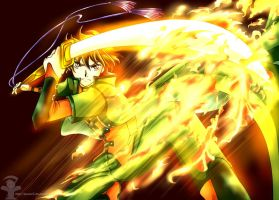 Syaoran - Fire Attack by SEVENR5