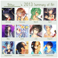 Potsu's 2013 Art Summary by potpoorri