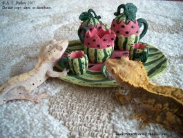 Gecko Tea Party by styx-leagon