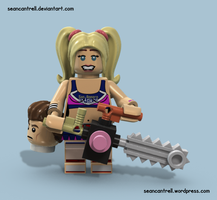 Lego Juliet Starling - Lollipop Chainsaw by seancantrell