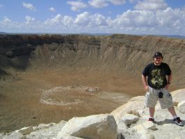 Me at Meteor Crater by MacArther