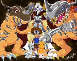 Tai and his Digimon by skylights01
