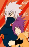 Kakashi and Anko : Hug by KickBass77