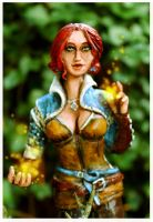 Witcher - Triss Merigold Statue1 by Hollow-Moon-Art