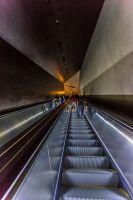 Tunnel vision below the world trade centre by pdjwelford