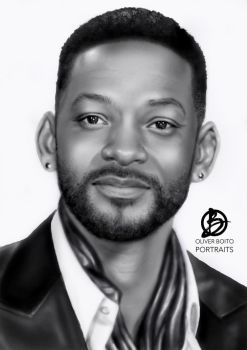 Will Smith portrait  by Orb78