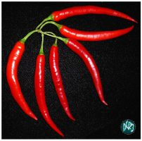 Cayenne Peppers by DCRIII