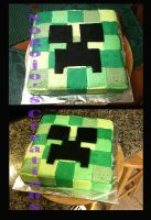 Creeper cake for my little bro by Nogojo