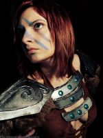 Aela the Huntress by IssssE
