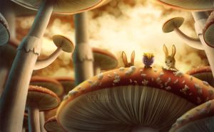 On the mushrooms by LuzTapia