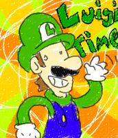 LUIGI TIME by Kirafrog