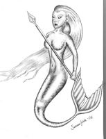 Warrior Mermaid by Izilja