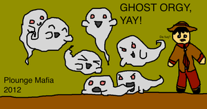 2012 Plounge Mafia Ghost Orgy by Perler-Pony