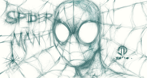 Spidey sketch'n with Muro by JoeyVazquez