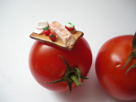 polymer clay food board miniature by ionescudiana