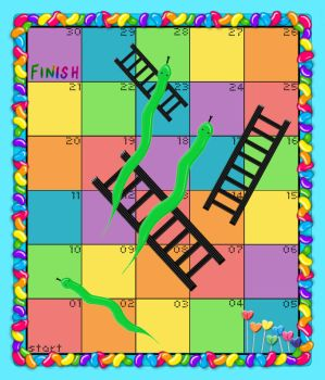 Snakes and Ladders Board Game by McStacey