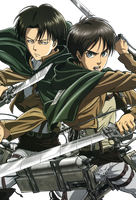 Rivaille and Eren render by lextranges