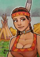 Westward Ho'! Sketch Card by BillMcKay