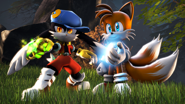 Klonoa and Tails [SFM] by HansGrosse1