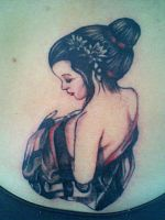 geisha tattoo by diablochingo