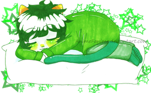 Sleeping Nepeta by RollingSlug