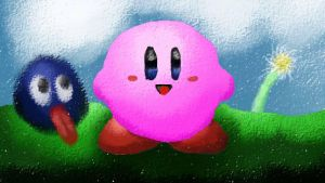 Kirby and Gooey by Grim-Heaper