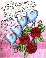 hearts and roses by xtreamxboxer