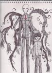 The Slender Man and Masky by Dante6499
