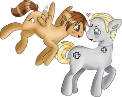 My Little Hetalia Ponies - GerIta by Squeemishness
