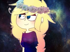 flower crown QvQ by carolthehuman