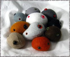 Ten Plushie Pebble Pets by Jevist