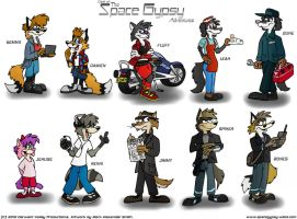 Cast of The Space Gypsy Adventures by FreyFox