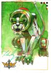 VOLTRON Green Lion by markmchaley