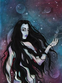 Vermillion Lies Inspired - The Astronomer by Persephore
