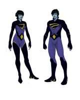 The Wonder Twins redesign by Trabbold