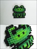 Super Mario 3 frog bead sprite by 8bitcraft