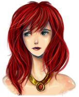 Red is pretty - Lily by AStudyInScarlet